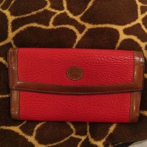 Leather Red Dooney and Burke check book wallet